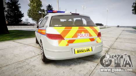 Vauxhall Astra 2010 Police [ELS] Whelen Liberty for GTA 4 back left view