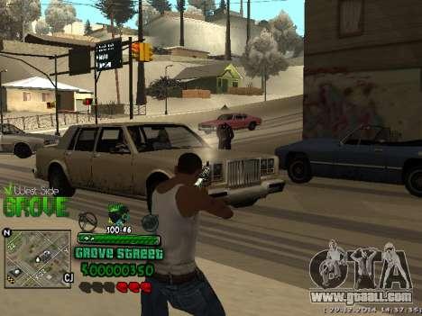 C-HUD Grove Street for GTA San Andreas forth screenshot