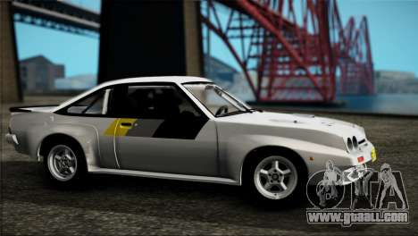 Opel Manta 400 for GTA San Andreas back left view
