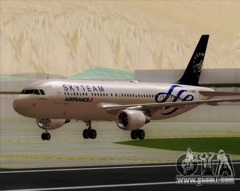 Airbus A320-200 Air France Skyteam Livery for GTA San Andreas left view