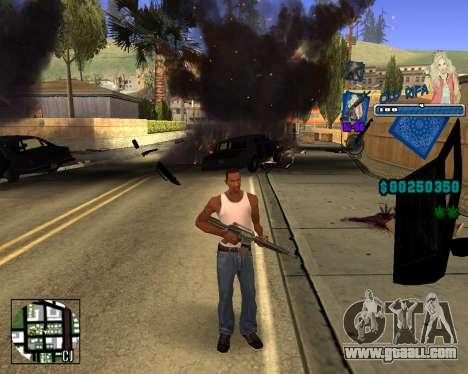 C-HUD Old Rifa for GTA San Andreas third screenshot