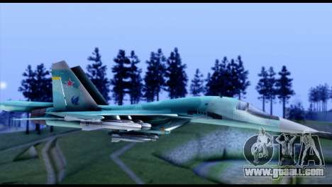 SU-34 Fullback for GTA San Andreas back left view