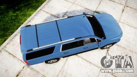 Chevrolet Suburban 2015 for GTA 4 right view