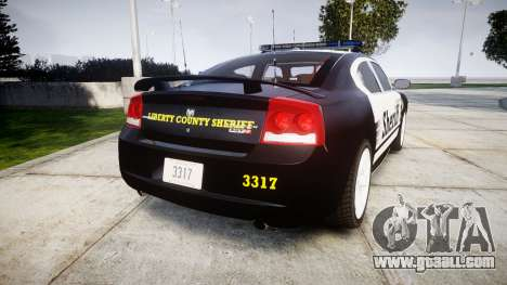 Dodge Charger SRT8 2010 Sheriff [ELS] rambar for GTA 4 back left view