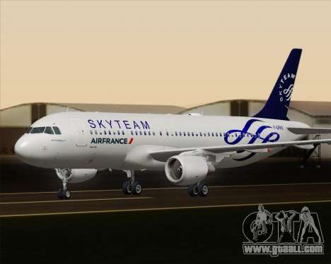 Airbus A320-200 Air France Skyteam Livery for GTA San Andreas upper view