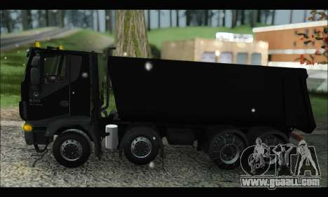 Iveco Trakker 2014 Tipper Snow (IVF & ADD) for GTA San Andreas left view