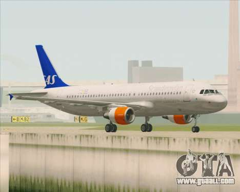 Airbus A320-200 Scandinavian Airlines - SAS for GTA San Andreas right view