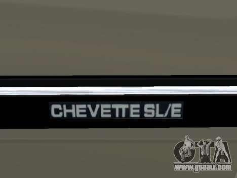 Chevrolet Chevette Hatch for GTA San Andreas upper view