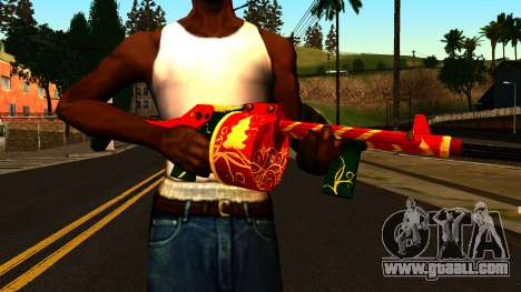 Christmas Shotgun for GTA San Andreas third screenshot