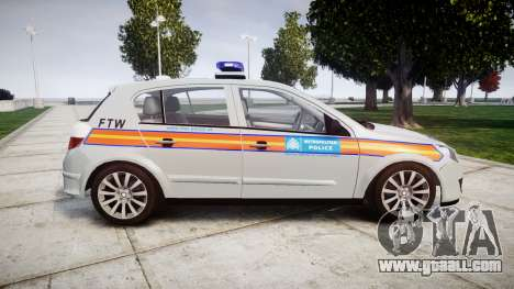 Vauxhall Astra 2010 Police [ELS] Whelen Liberty for GTA 4 left view