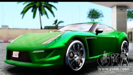 GTA 5 Grotti Carbonizzare v3 SA Mobile for GTA San Andreas back left view
