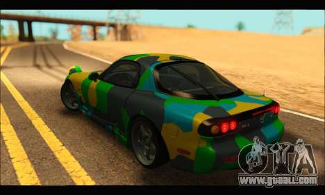 Mazda RX-7 Camo for GTA San Andreas left view
