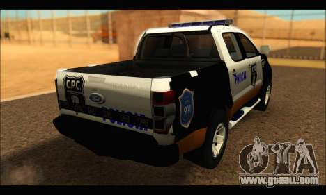 Ford Ranger P.B.A 2015 Text3 for GTA San Andreas left view
