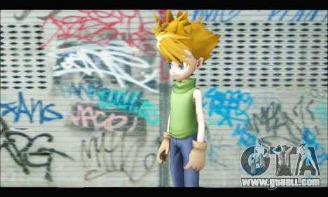 Yamato Ishida (Digimon) for GTA San Andreas