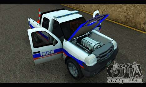 Ford Ranger 2011 Patrulleros CPC for GTA San Andreas right view