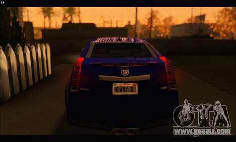 Cadillac CTS-V Coupe for GTA San Andreas back view