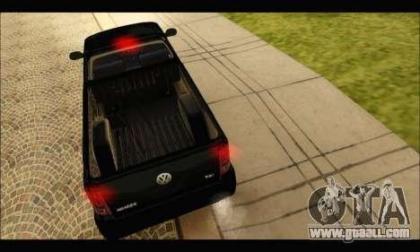 Volkswagen Amarok Cabina Simple for GTA San Andreas right view