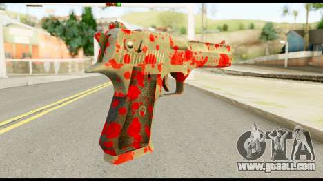 Desert Eagle with Blood for GTA San Andreas second screenshot