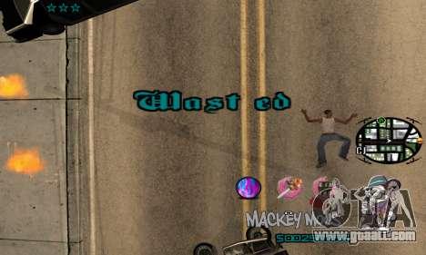 C-HUD Mickey Mouse for GTA San Andreas fifth screenshot