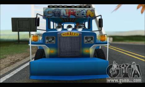 Jeepney Morales for GTA San Andreas back view