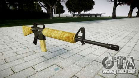 The M16A2 rifle gold for GTA 4