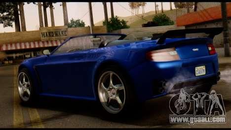 GTA 5 Dewbauchee Rapid GT Cabrio [HQLM] for GTA San Andreas back left view