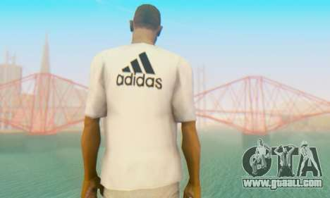 Adidas Shirt White for GTA San Andreas second screenshot