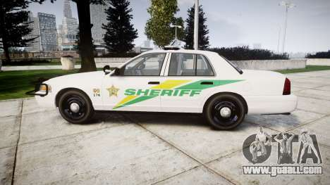 Ford Crown Victoria Martin County Sheriff [ELS] for GTA 4 left view