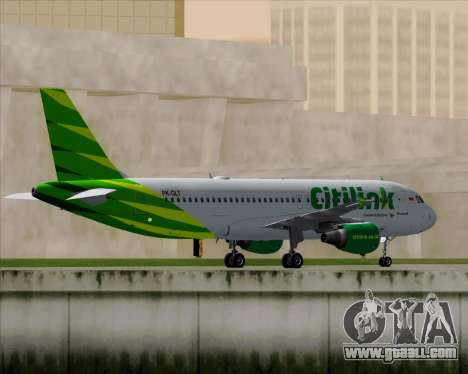 Airbus A320-200 Citilink for GTA San Andreas back view