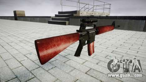 The M16A2 rifle [optical] red for GTA 4 second screenshot