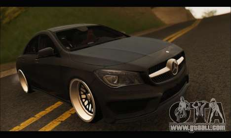 Mercedes Benz CLA 250 2014 for GTA San Andreas inner view