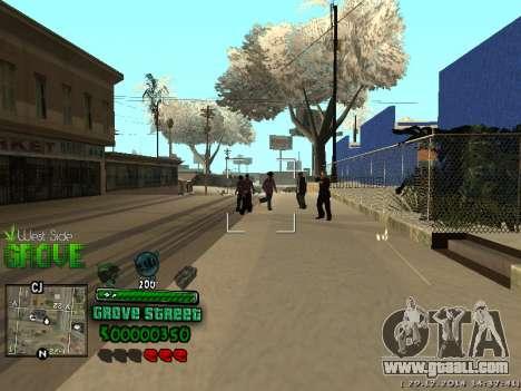 C-HUD Grove Street for GTA San Andreas fifth screenshot