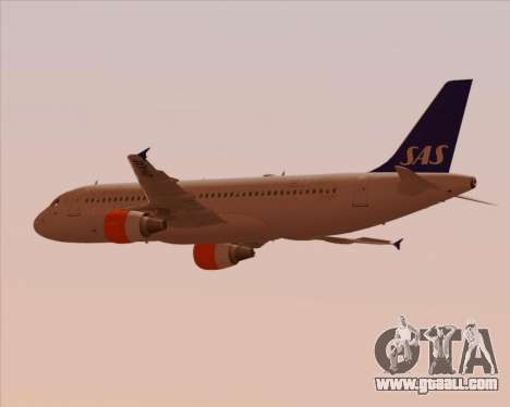 Airbus A320-200 Scandinavian Airlines - SAS for GTA San Andreas inner view