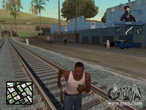 C-HUD Unique Ghetto for GTA San Andreas second screenshot