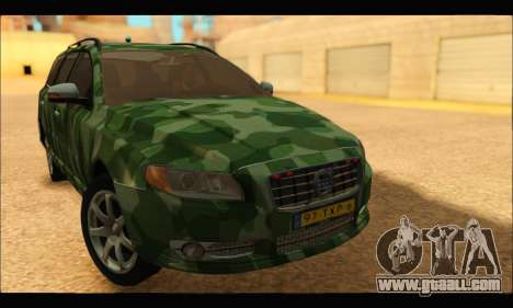 Volvo V70 Camo for GTA San Andreas back left view