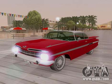 Chevrolet Impala 1959 for GTA San Andreas bottom view