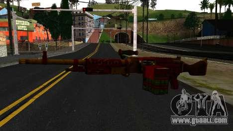 Christmas Minigun for GTA San Andreas