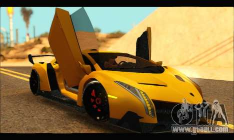 Lamborghini Veneno 2013 HQ for GTA San Andreas right view