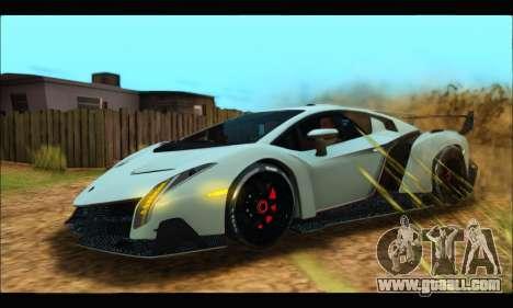 Lamborghini Veneno 2013 HQ for GTA San Andreas