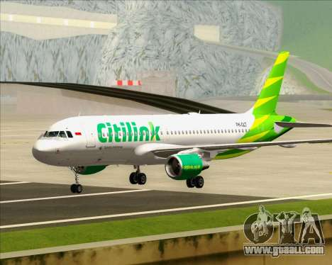 Airbus A320-200 Citilink for GTA San Andreas left view