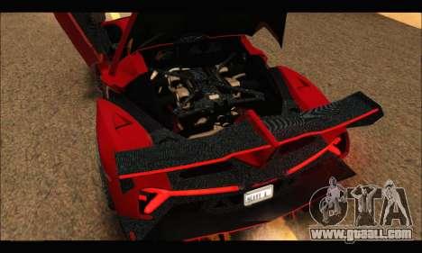 Lamborghini Veneno 2013 HQ for GTA San Andreas inner view
