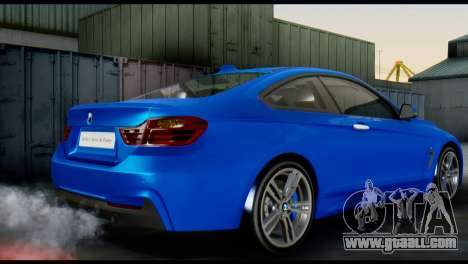 BMW 4-Series Coupe M Sport 2014 for GTA San Andreas left view