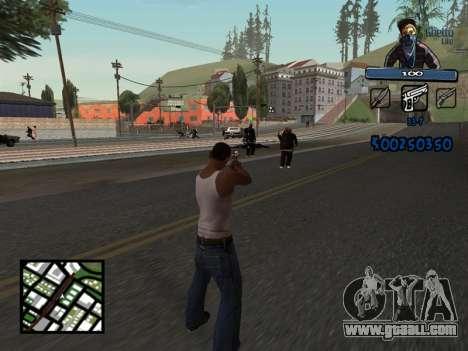 C-HUD Unique Ghetto for GTA San Andreas