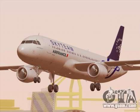 Airbus A320-200 Air France Skyteam Livery for GTA San Andreas wheels