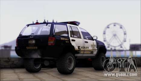 Jeep Grand Cherokee 1999 Sheriff for GTA San Andreas left view