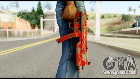 MP5 with Blood for GTA San Andreas third screenshot