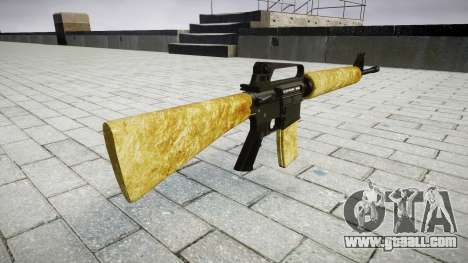 The M16A2 rifle gold for GTA 4 second screenshot