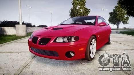 Pontiac GTO 2006 18in wheels for GTA 4