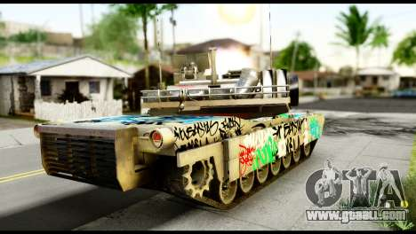 M1A2 Abrams for GTA San Andreas back left view