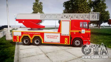 Scania R580 Marseille Fireladder [ELS] for GTA 4 left view